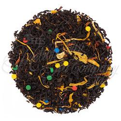 Ceylon black tea with calendula, sunflower & safflower petals and confetti for fun!