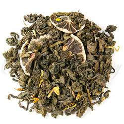 A pleasant blend of tart lemon with the sweetness of green tea. Makes excellent iced tea.